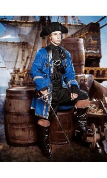 Veste de pirate Bleu roi