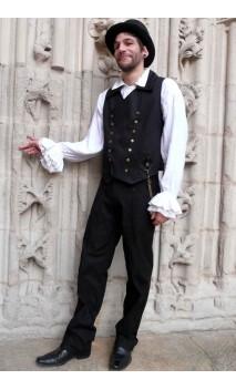 Gilet steampunk noir