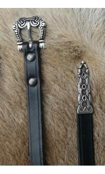 Ceinture viking avec embout décoratif